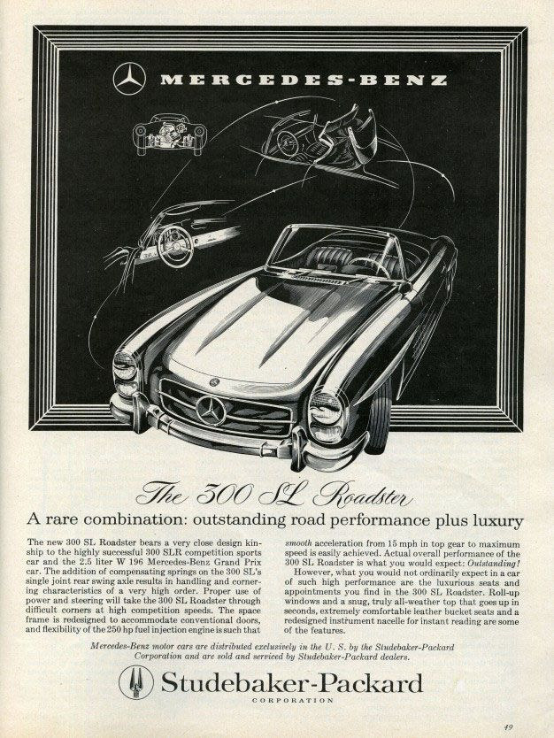 The Mercedes-Benz 300 SL Roadster. A rare combination: outstanding road performance plus luxury.