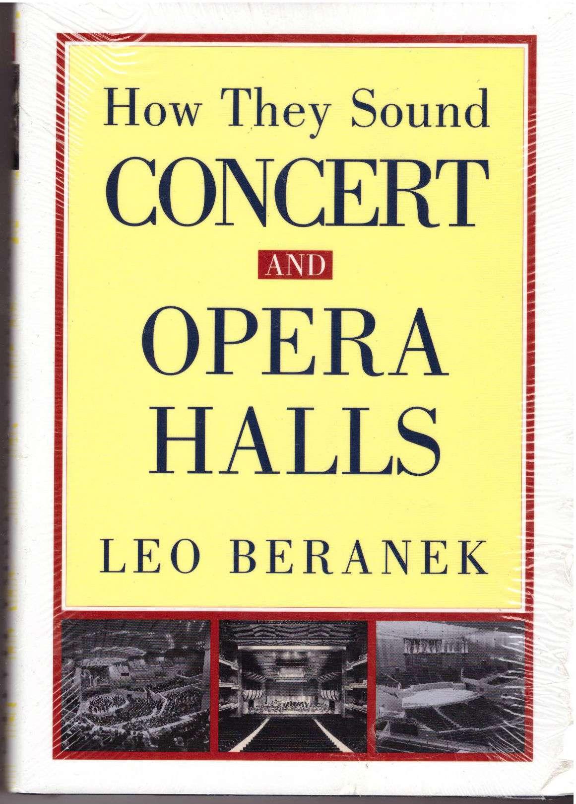 Concert and Opera Halls: How They Sound, Beranek, Leo L.