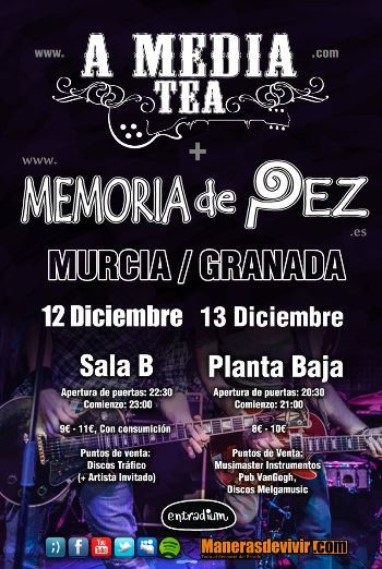 A Media Tea + Memoria de Pez cartel