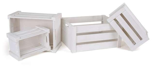 Cajas madera blancas, cajas madera