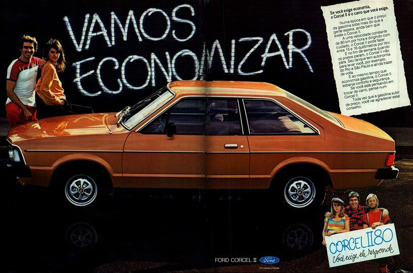 Se você exige economia, o Ford Corcel II 1980 é o carro que você exige. Vamos economizar. Ford Corcel II 1980. Você exige, ele responde.