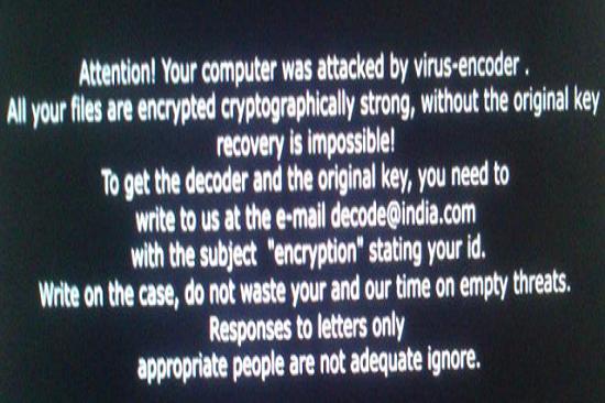 Verwijder Decode@india.com Ransomware