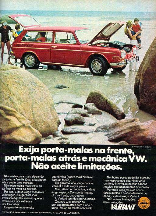 Exija porta-malas na frente, porta-malas atrás e mecânica Volkswagen Variant. Não aceite limitações. Nem imitações.