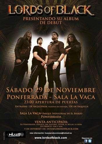 Lords of Black - cartel ponferrada