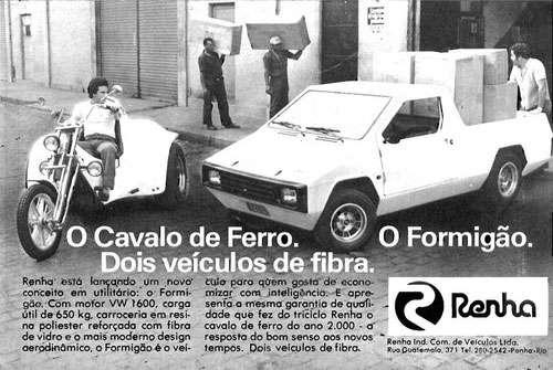 O Cavalo de Ferro e o Formigão. Dois veículos de fibra da Renha.
