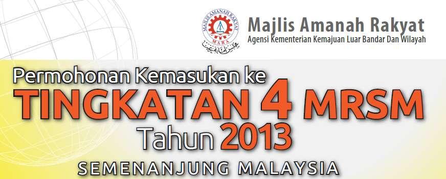 mrsm, masuk mrsm 2013, download borang mrsm tingkatan 4 2013,