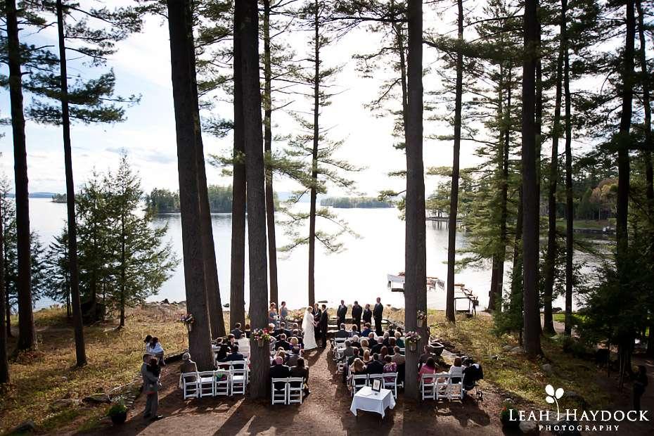 migis lodge wedding photographer outdoor ceremony maine