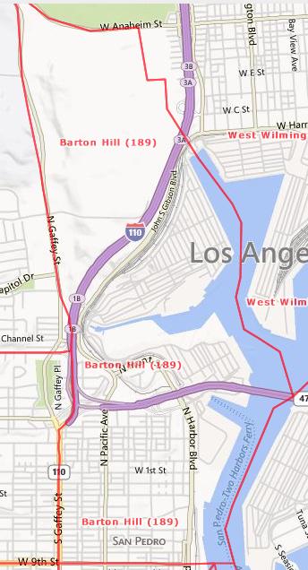 Barton Hill Area, San Pedro, CA  90731