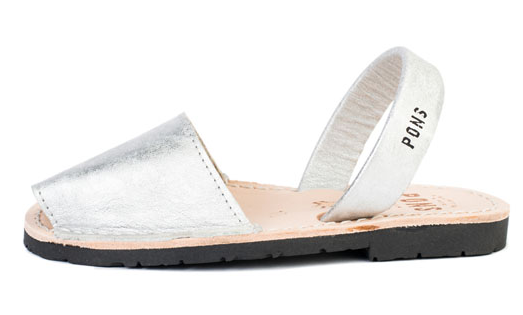 Avarcas Pons silver sandals on Cool Mom Picks