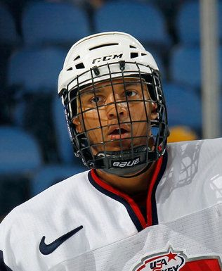 Seth Jones of Team McClanahan skates against Team Housley at the USA Hockey All-American Prospects Game at the First Niagara Center on Sept. 29, 2012 in Buffalo, N.Y.