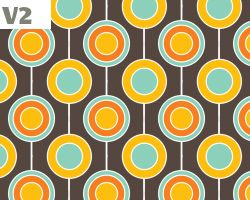 Retro Polka Dots Wallpaper