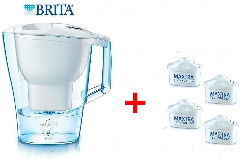 brita aluna xl 3 5l water filter jug white 4 maxtra. Black Bedroom Furniture Sets. Home Design Ideas