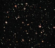 This image from 2009 shows an updated<br /> version of the Hubble Ultra Deep Field.<br /> The new eXtreme Deep Field could be<br /> considered a more detailed view of a<br /> portion of this image.<br /> (Credit: NASA; ESA; G. Illingworth,<br /> UCO/Lick Observatory and the<br /> University of California, Santa Cruz;<br /> R. Bouwens, UCO/Lick Observatory and<br /> Leiden University; and the HUDF09 Team)<br /> <strong class='bbc'><a href='http://www.nasa.gov/images/content/690951main_hs-2009-31-a-xlarge_web.jpg' class='bbc_url' title='External link' rel='nofollow external'>� Larger image</a><br /> <a href='http://hubblesite.org/newscenter/archive/releases/2009/31/' class='bbc_url' title='External link' rel='nofollow external'>� More info from HubbleSite.org</a> </strong>