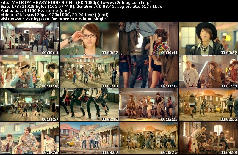 [MV] B1A4 - BABY GOOD NIGHT (HD 1080p Youtube)