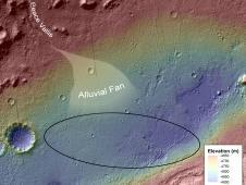 This image shows the topography, with<br /> shading added, around the area where<br /> NASA&#39;s Curiosity rover landed on Aug. 5<br /> PDT (Aug. 6 EDT).<br /> Image credit: NASA/JPL-Caltech/UofA&nbsp;&nbsp;<br /> <a href='http://www.nasa.gov/mission_pages/msl/multimedia/pia16158.html' class='bbc_url' title='External link' rel='nofollow external'>� Full image and caption</a>
