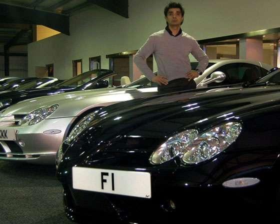 "Afzal Kahn ""F1"" plate"