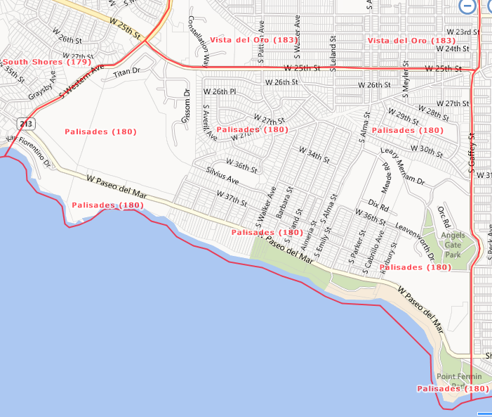Palisades Area, San Pedro, CA  90731 and 90732