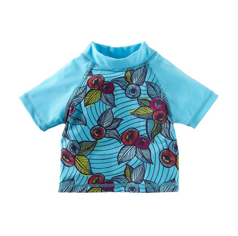 African Jewel girls' rashguard swim top | Tea Collection