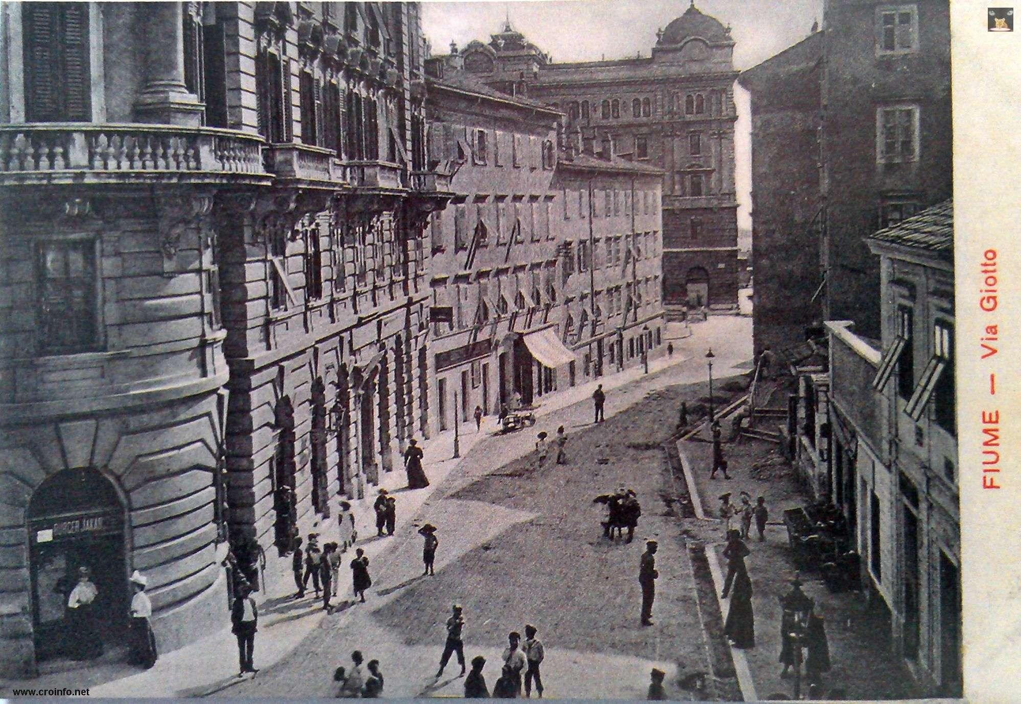 Barčićeva prije izgradnje Riječke banke Via Giotto