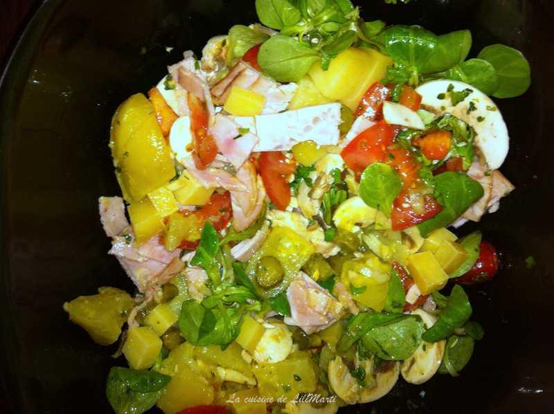 ah les salades quoi de mieux que les salades compl tes pour un pique nique la cuisine de. Black Bedroom Furniture Sets. Home Design Ideas