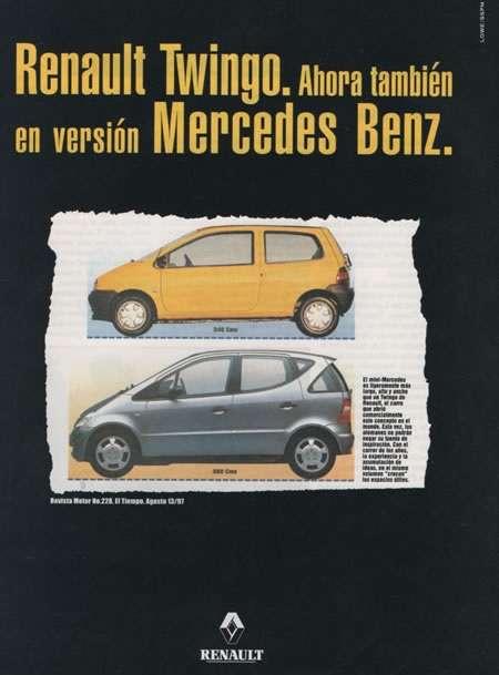 Renault Twingo. Ahora también en versión Mercedes-Benz.