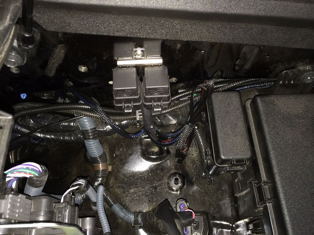 Led Light Bar Install On A 2014 T4r Toyota 4runner Forum Largest Highbeam Switch Wiring To Trigger Wire Connected High Beam