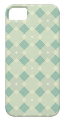sweet turqouise green plaid iphone case