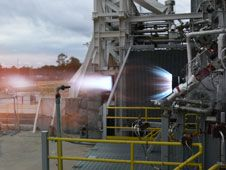 Image above: Blue Origin successfully<br /> test fires its BE-3 high-performance<br /> liquid hydrogen engine thrust chamber<br /> at NASA&#39;s Stennis Space Center.<br /> Image credit: Blue Origin<br /> <a href='http://www.nasa.gov/images/content/697149main_BlueOrigin-be3.jpg' class='bbc_url' title='External link' rel='nofollow external'>� Larger image</a>