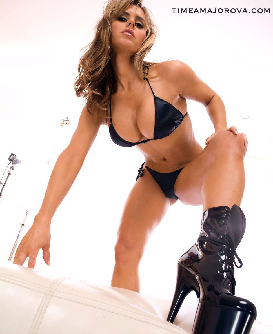 Super hot model in black bikini