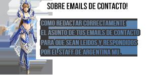 Sobre emails de contacto/soporte