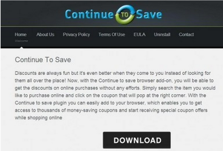 ContinuetoSave popup-annonser