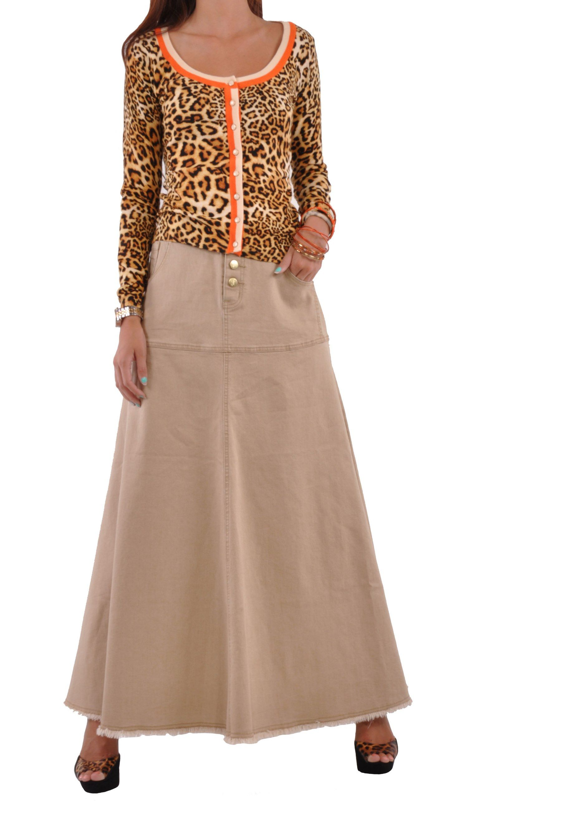Style J Feminine Long Khaki Skirt at Sears.com
