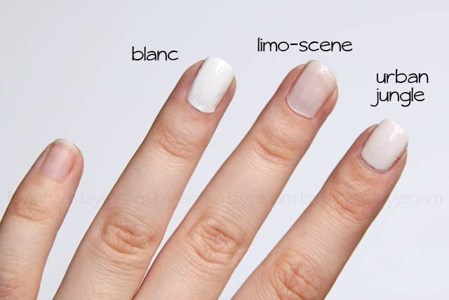 Swatch essie blanc, limo-scene, urban jungle