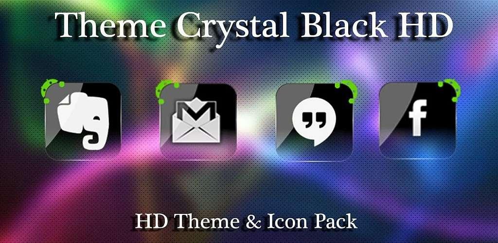 Theme Crystal Black Flat HD v13 APK Full indir