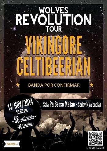 Celtibeerian + Vikingore en Valencia. Cartel