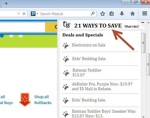 Remove 21 Ways To Save Deals and Specials
