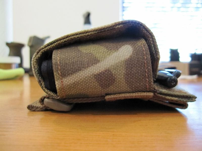 Left side of pouch