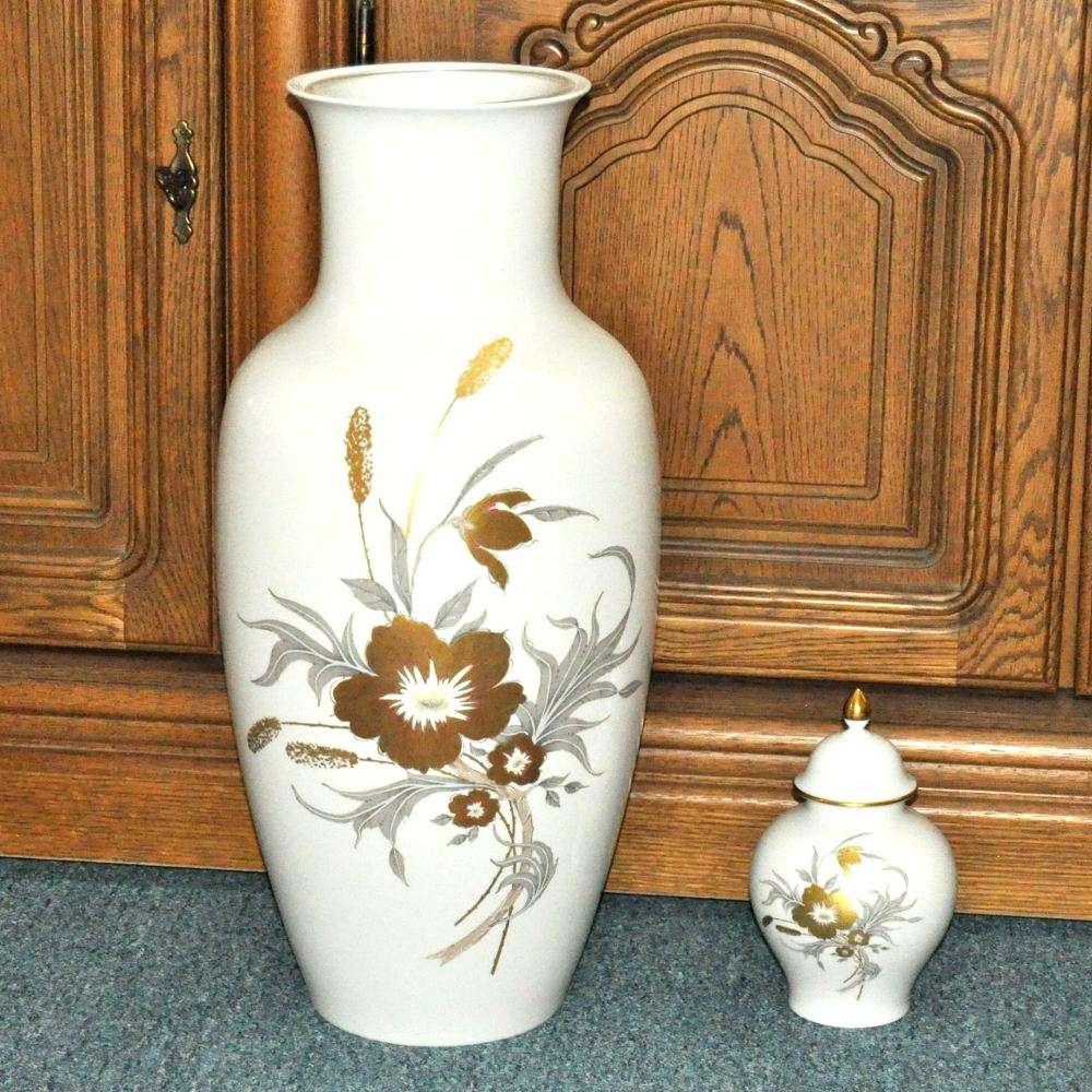 ak kaiser prelude boden vase 56 cm und blumenvase mit deckel gebraucht kaufen bei. Black Bedroom Furniture Sets. Home Design Ideas