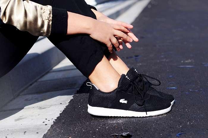 lacoste sneakers, black sneaker, nike thea