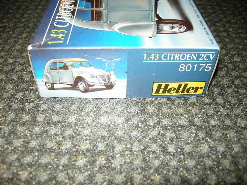 maquette ancienne heller voiture citroen 2cv ref 80175 1