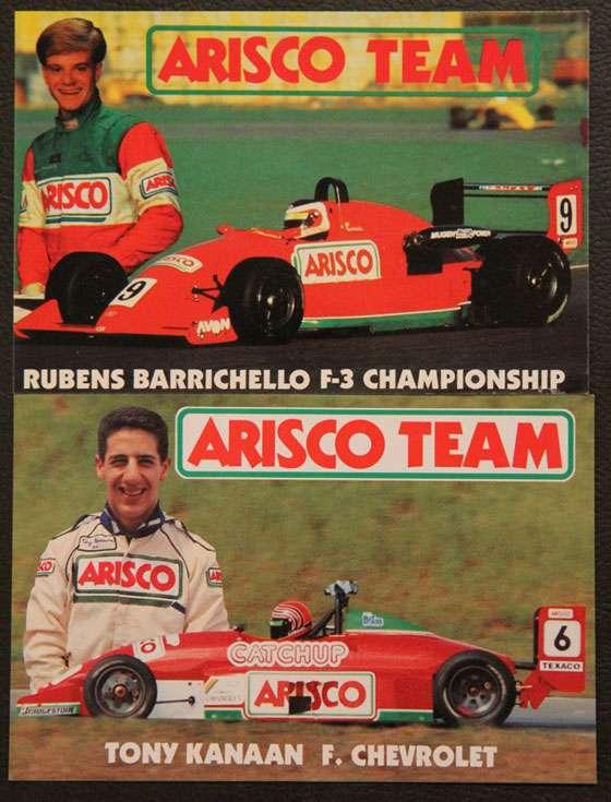 Arisco Team Rubens Barrichello F3 Fórmula 3 Team Tony Kanaan Fórmula Chevrolet