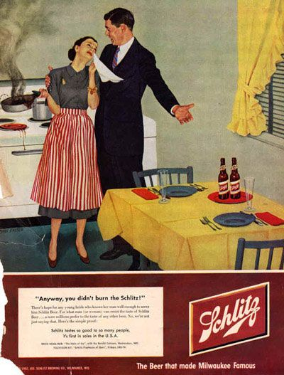 Schlitz. The Beer that made Milwaukee famous.