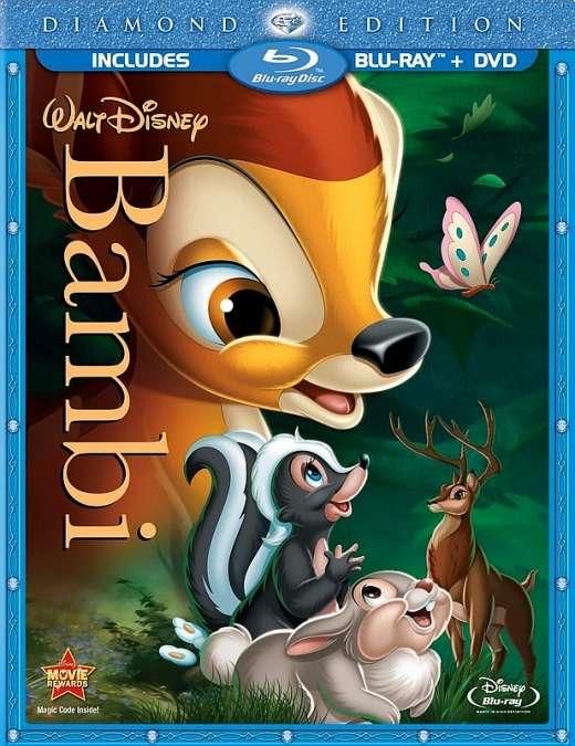 Bembis / Bambi (1942) [DVDRip] vaikams, žvėreliai, šeimai