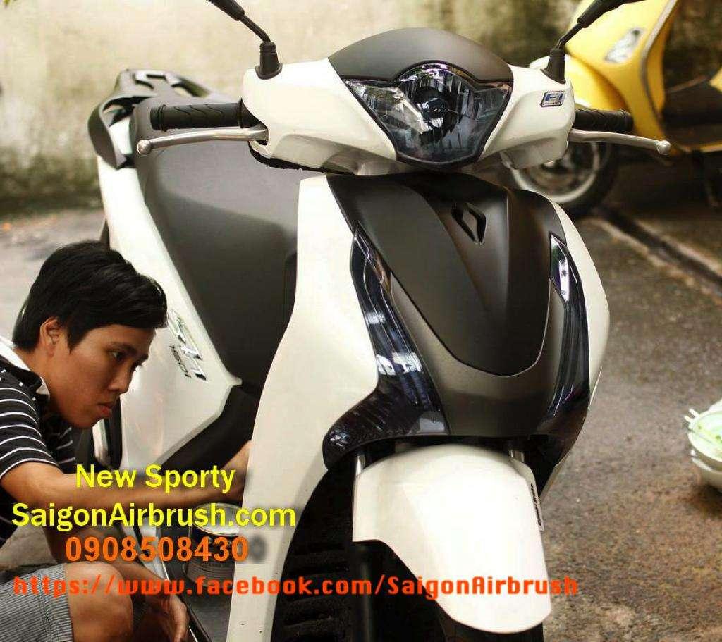 Son trang tri SH 2013 2014 len Sporty va ban Mat na Phong cach SH italia cho SH 2014 - 3