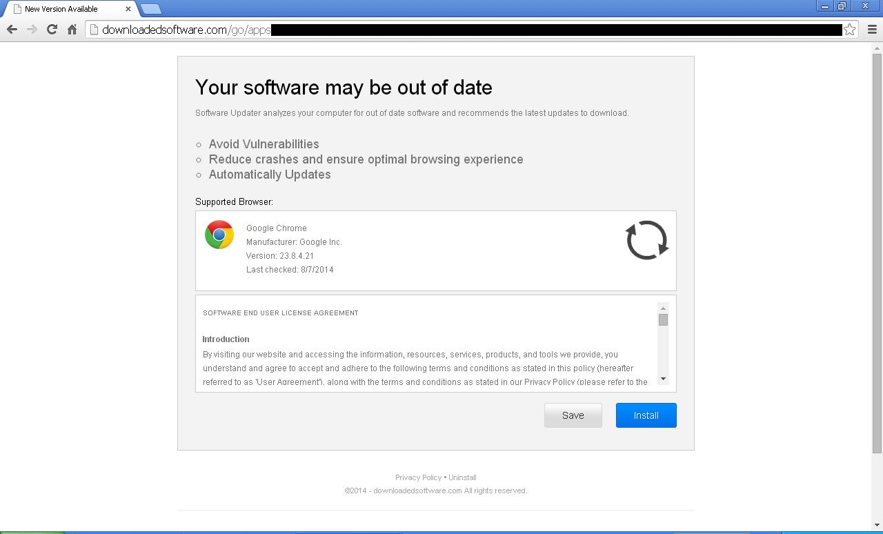 Rimuovere DownloadedSoftware.com