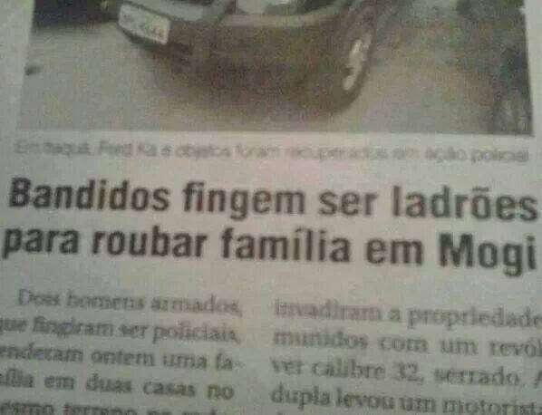 Bandidos fingem ser ladrões para roubar família em Mogi