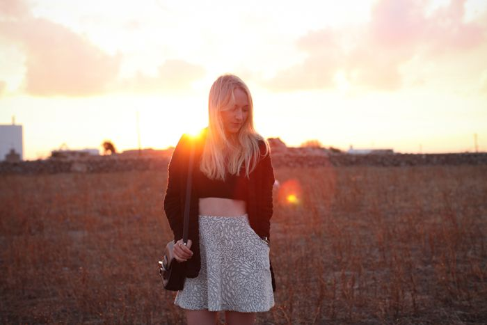 Mykonos; Travel; Zara; HM Trend; Trend Bauch; Topshop; Over Knees; Outfit