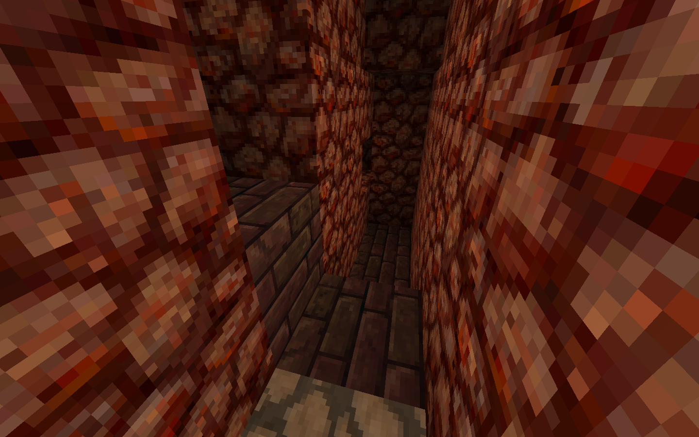 how to get through the roof of the nether