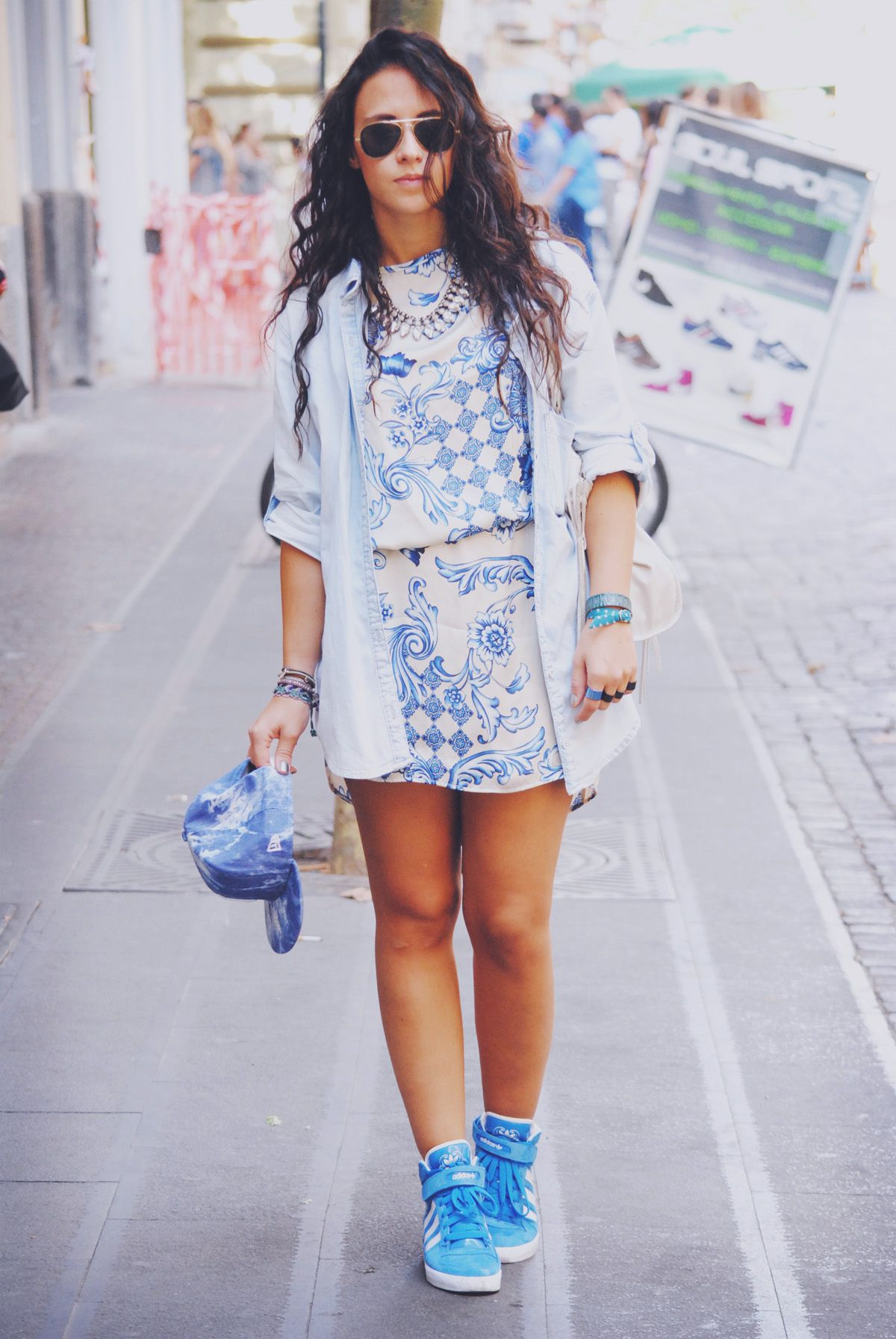 blue outfit fashion blogger