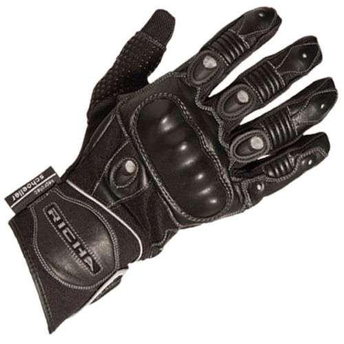 richa magma pour femmes en cuir t gants moto noir noir blanc soldes ebay. Black Bedroom Furniture Sets. Home Design Ideas